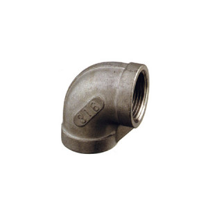 Stainless Steel female-female 90° elbow Fitting 1 1/2""