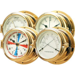 150 class fire professional polished solid brass weather instruments barometer ref 150x100x78,5 mm