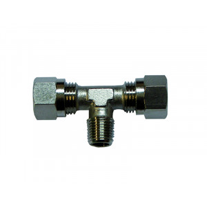brass tee for hose mm.8 Hydraulic